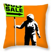 Space Golf Sale Throw Pillow