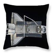 Space Shuttle Atlantis Backdropped Throw Pillow