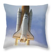 Space Shuttle Atlantis Lifts Throw Pillow