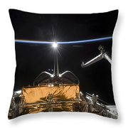 Space Shuttle Atlantis Payload Bay Throw Pillow