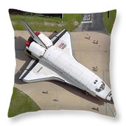 Space Shuttle Atlantis Throw Pillow