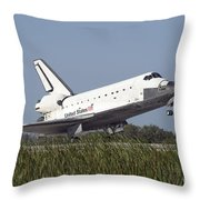 Space Shuttle Atlantis Touches Throw Pillow
