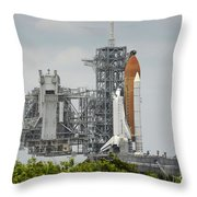 Space Shuttle Endeavour On The Launch Throw Pillow