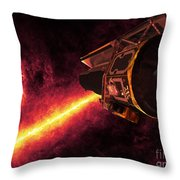 Spitzer Seen Against The Infrared Sky Throw Pillow