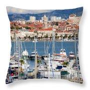 Split Cityscape Throw Pillow