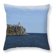 Split Rock Lighthouse 82 Throw Pillow