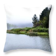 Spring Morning Big Ditch Lake Throw Pillow