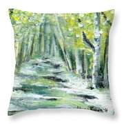 Spring Throw Pillow by Shana Rowe Jackson