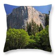 Spring Views Of El Capitan Throw Pillow