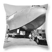 Spruce Goose Hull On The Move Throw Pillow