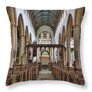 St Edmund King And Martyr Southwold Throw Pillow