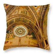 St Francis Basilica   Assisi Italy Throw Pillow