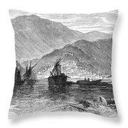 St. Thomas: Hurricane, 1867 Throw Pillow