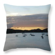 St. Thomas Sunset Throw Pillow