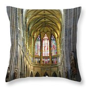 St. Vitus Cathedral Throw Pillow
