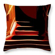Stairs At Palace Avenue Throw Pillow