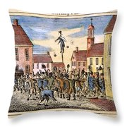 Stamp Act: Protest, 1765 Throw Pillow