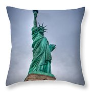 Staute Of Liberty Throw Pillow