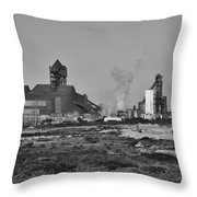 Steel Works Throw Pillow
