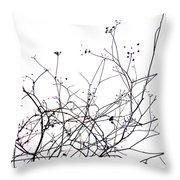 Stems Throw Pillow by Bernard Jaubert