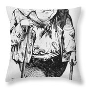Stephen Arnold Douglas Throw Pillow