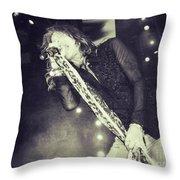Steven Tyler In Concert Throw Pillow