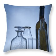 Still Life Of Bottles  Throw Pillow