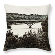 Strawberry Mansion Bridge From Laurel Hill Throw Pillow