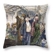 Streetcar, 1876 Throw Pillow