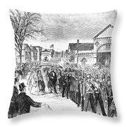 Striking Women, 1860 Throw Pillow