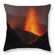 Stromboli Eruption, Aeolian Islands Throw Pillow