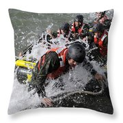 Students In Basic Underwater Throw Pillow by Stocktrek Images