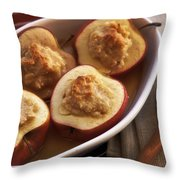 Stuffed Baked Apples Throw Pillow by Joana Kruse