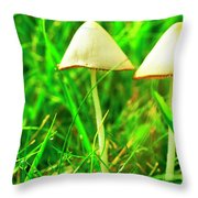Stump Fairy Helmet Throw Pillow by Thomas R Fletcher