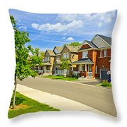 Suburban Homes Throw Pillow