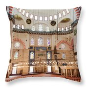 Suleymaniye Mosque Interior Throw Pillow