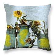 Sunflowers .helianthus Annuus Throw Pillow