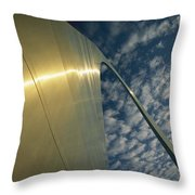Sunlight Beams On The Gateway Arch Throw Pillow