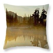 Sunlight On An Alpine Lake Throw Pillow