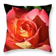 Sunny Pink Throw Pillow