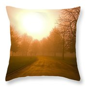 Sunrise Over Country Road, Oregon Throw Pillow