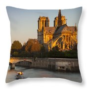 Sunrise Over Notre Dame Throw Pillow
