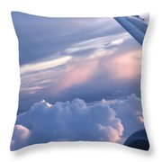 Sunrise Over The Wing Throw Pillow
