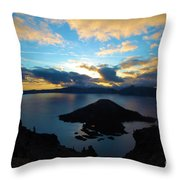 Sunrise Over The Wizard Throw Pillow