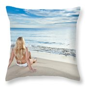 Sunrise Woman Throw Pillow