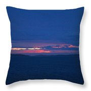 Sunset In Mali Drvenik Throw Pillow