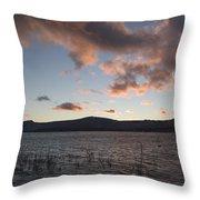 Sunset Over Lake Tahoe Throw Pillow
