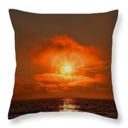 Sunset Over The Pacific Throw Pillow