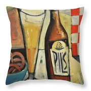 Sunshine And Hops Throw Pillow by Tim Nyberg