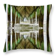 Surf City Pier Reflection Throw Pillow